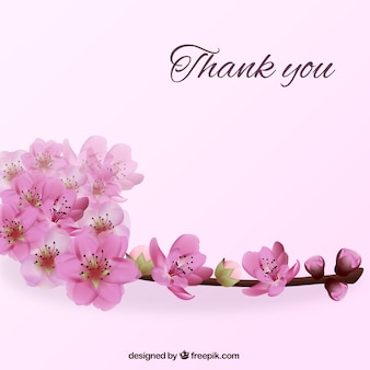 Thank you background with flowers