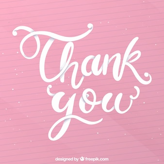 Thank you background with lettering
