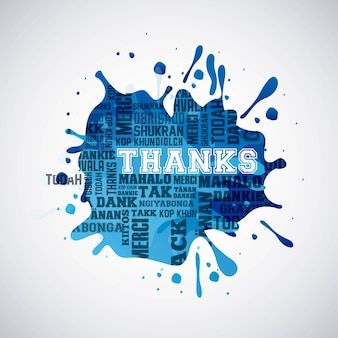 Thank you card design, vector illustration eps10 graphic