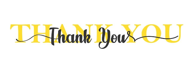 Thank you card. one line lettering. beautiful greeting card scratched calligraphy black text.
