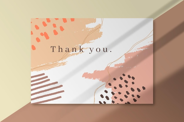 Thank you card template