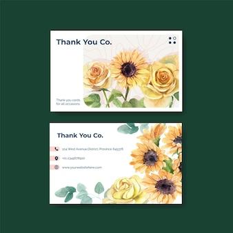 Шаблоны поздравительных открыток с концепцией дня отца в стиле акварели