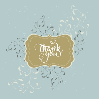Thank you card in vintage style