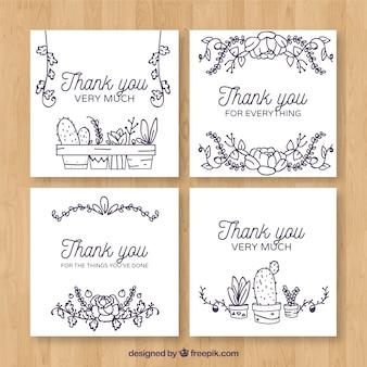 Grazie carta con cactus