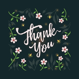 Thank you card with flower theme