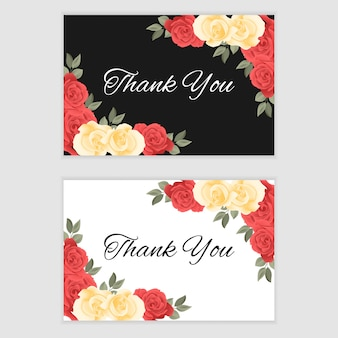 Thank you card with roses