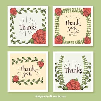 Grazie collezione di carte con disegno floreale