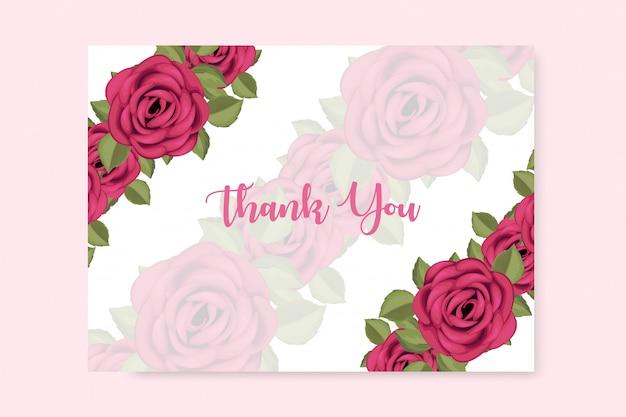 美しい花飾りのあるありがとうカード