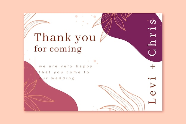 Thank you for coming to our wedding card template