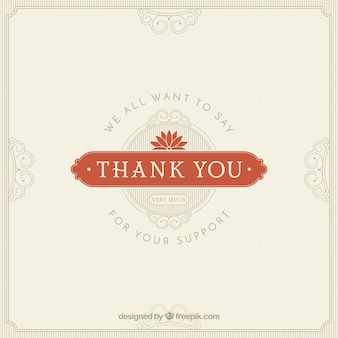 Thank you composition with vintage style