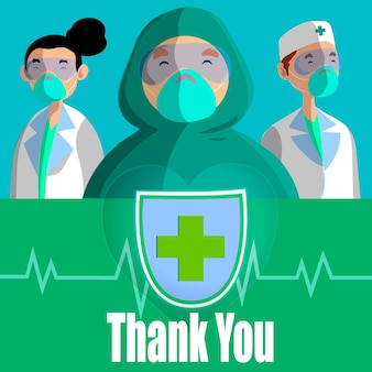 Спасибо докторам и медсестрам концепция