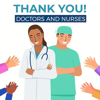 의사와 간호사 디자인 감사합니다