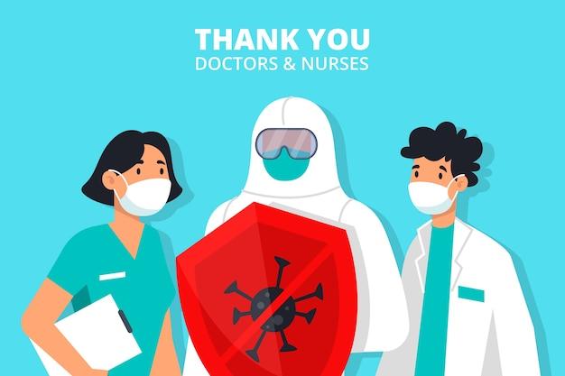 의사와 간호사 그림 감사합니다
