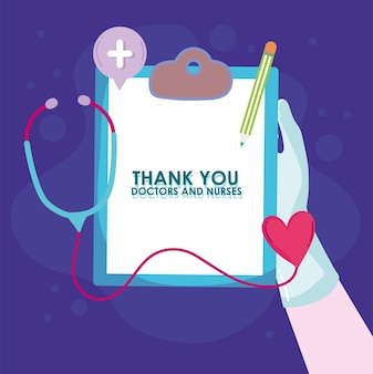 Thank you doctors and nurses phrase