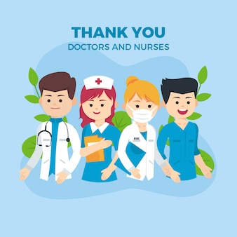 Thank you doctors and nurses supportive message