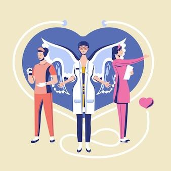 Grazie tema medici e infermieri