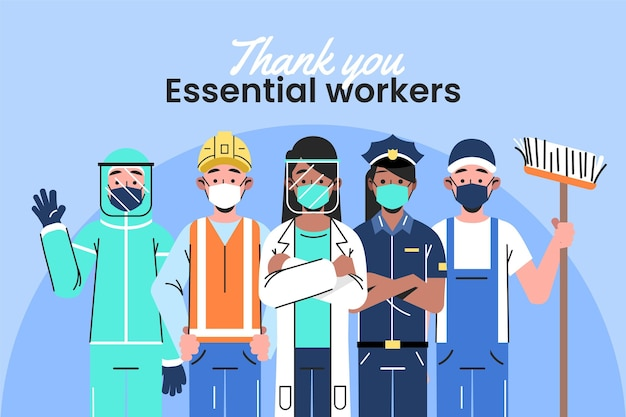 Спасибо важным работникам