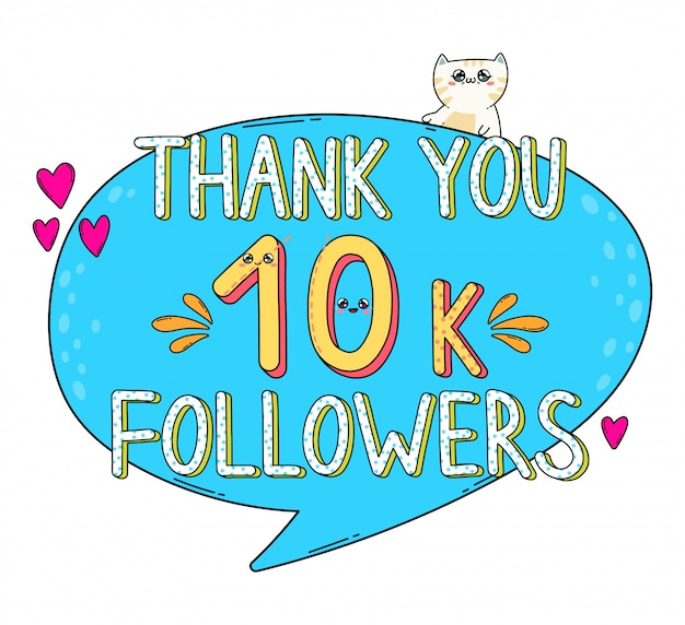 Thank you followers 10k in japan kawaii style