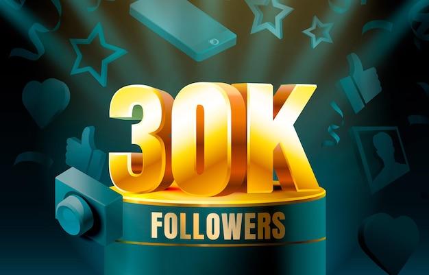 Thank you followers 30k banner