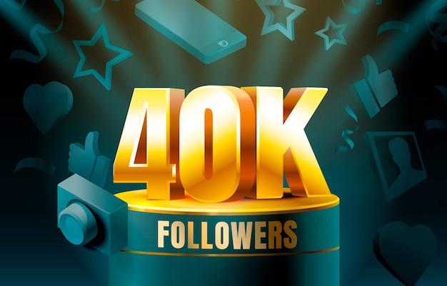 Thank you followers 40k banner