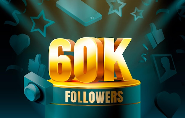 Thank you followers 60k banner