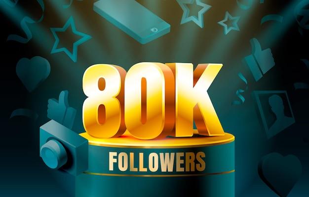 Thank you followers 80k banner
