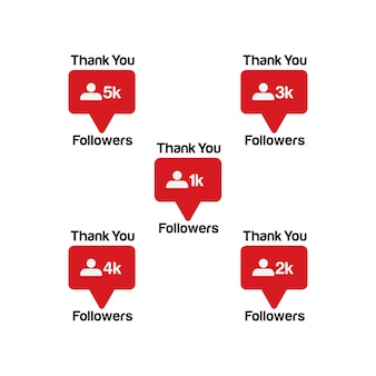 Thank you followers. new counter notification icon instagram.