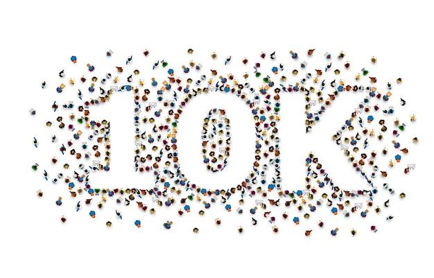 フォロワーの人々、10kオンラインソーシャルグループに感謝します
