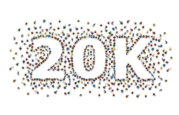 フォロワーの人々、20kオンラインソーシャルグループに感謝します