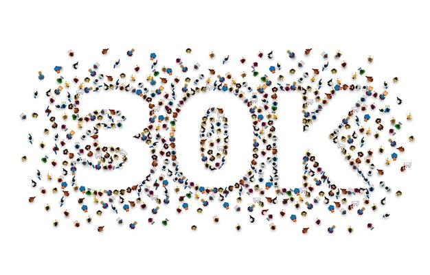 フォロワーの人々、30kオンラインソーシャルグループに感謝します