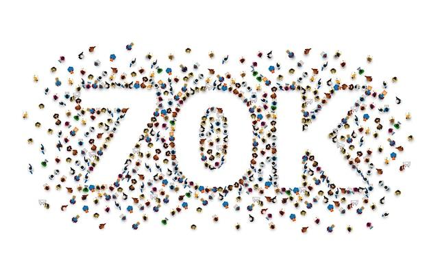 フォロワーの人々、70k のオンライン ソーシャル グループ、幸せなバナーのお祝いに感謝します。