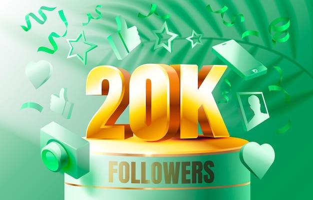 Спасибо последователи народы k онлайн социальная группа счастливый баннер праздновать вектор