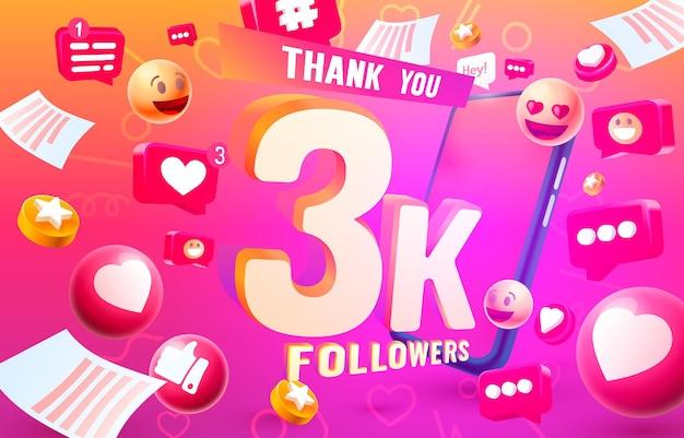 ありがとうフォロワーの人々kオンラインソーシャルグループ幸せなバナーはベクトルを祝う