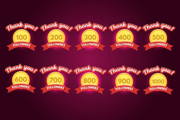 Thank you followers set