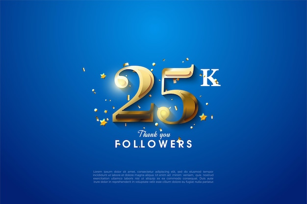 Спасибо за 25 тысяч подписчиков с золотыми цифрами, которые светятся в определенных разделах.