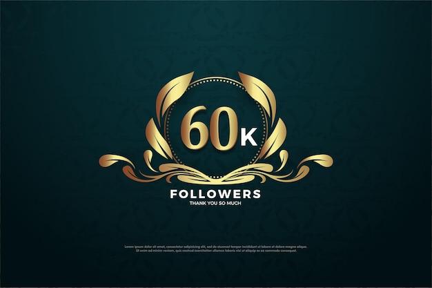 고유 한 기호에 숫자가있는 60k 팔로워에게 감사드립니다.