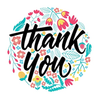 Thank you greeting card lettering