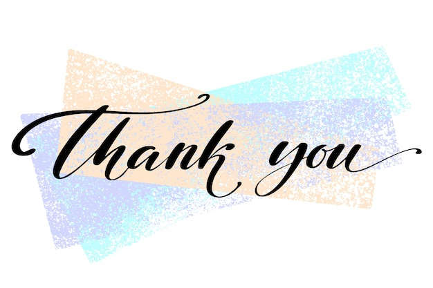 Thank you. hand drawn creative calligraphy and brush pen lettering.