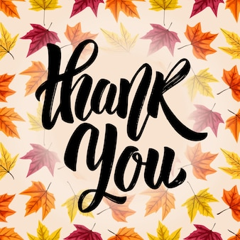 Thank you. hand drawn lettering phrase  on white background.