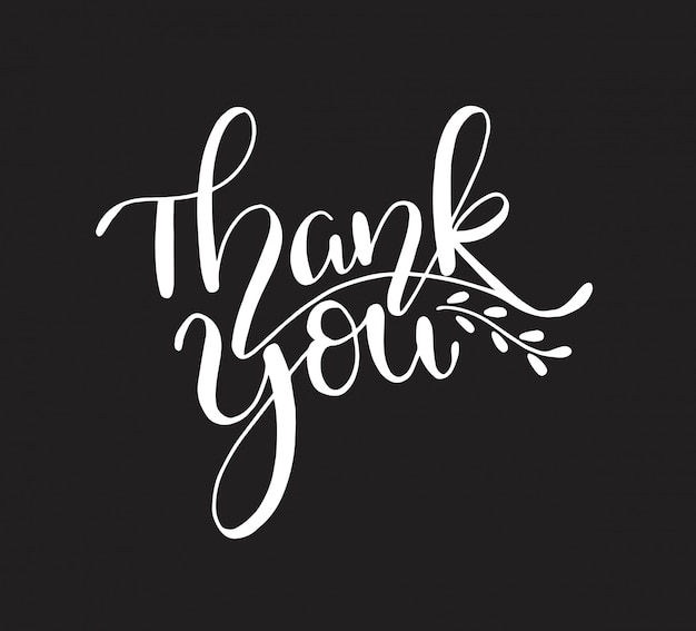 Thank you, hand lettering calligraphy