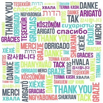 thank you  in different languages background