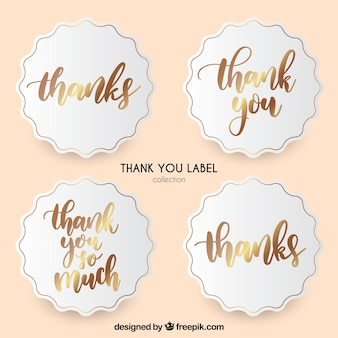 Thank you label collection