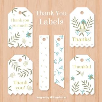 Grazie per la raccolta di etichette