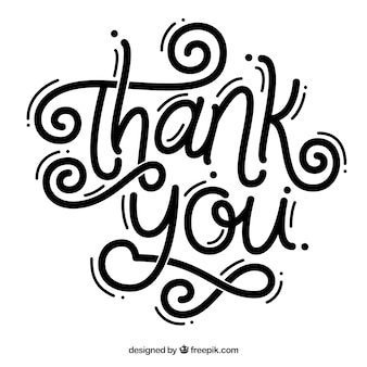Thank you lettering background in black color
