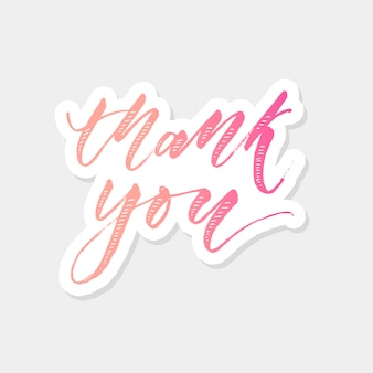 Thank you lettering calligraphy