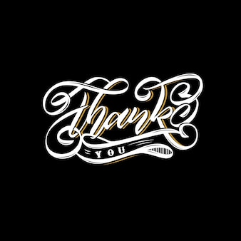 Thank you lettering design vector