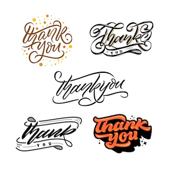 Thank you lettering design