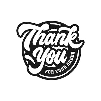Thank you lettering stamp