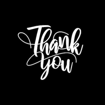 Thank you lettering typography design