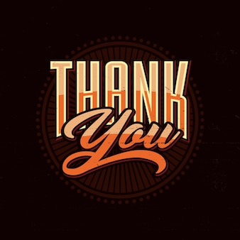 Thank you lettering typography